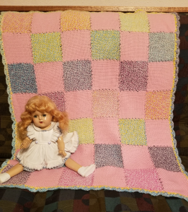 Pink and Rainbow Baby Blanket